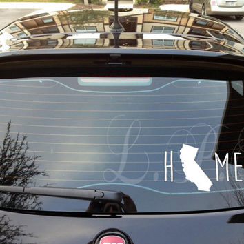 I Love California Heart Decal, Customized for any State & Wide Array of Colors I love my State Car Decal FAST SHIP With in 24 hours