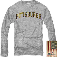 Pittsburgh Pirates Long Sleeve Triblend Road Wordmark T-Shirt - MLB.com Shop