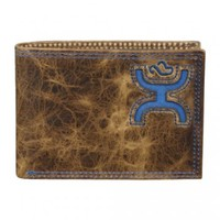HOOey Wallets : HOOey Brown and Cobalt Blue Bi-Fold Wallet