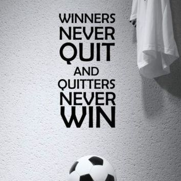SPORT MOTIVATIONAL FOOTBALL BOYS ROOM WALL QUOTE VINYL ART STICKER COOL GRAPHIC free shipping