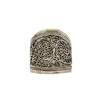 Natalie B Jewelry Elanit Ring in Metallic Silver