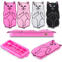 Cute 3D Go Away Cat Phone Case - iPhone 6 6S - Silicon Rubber