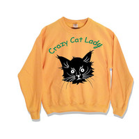 Crazy Cat Lady Sweater Krazy Peach Colored