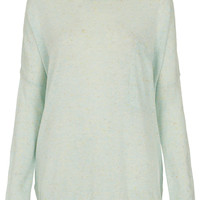 Knitted Speckle Slouch Jumper - Sale - Sale & Offers - Topshop USA