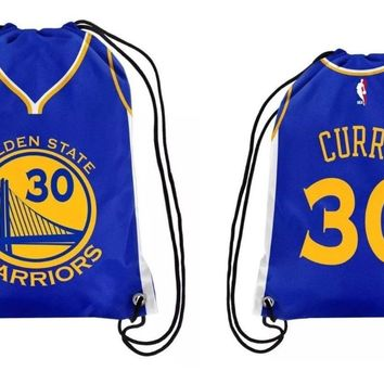 Golden State Warriors Stephen Curry #30 Two sided drawstring backpack/Gym bag