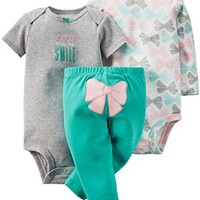 Carter's Baby Girls' 3 Piece Take Me Away Set (Baby)