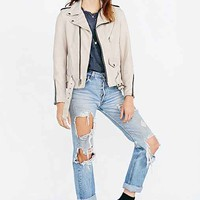 Schott  Ex-Boyfriend Leather Moto  Jacket- White
