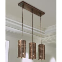 Coil 3 Light Pendant-Bronze Finish