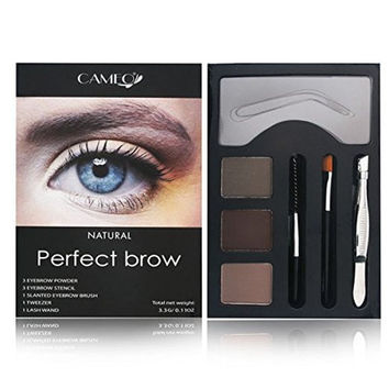 Perfect Brow Makeup NATURAL Color Beauty Eye Shape Shade Cosmetics Kit