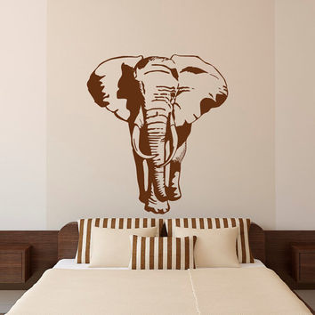 Elephant Wall Decal Stickers- African Animals Wall Decal - African Elephant Wall Decal Bedroom Living Room Safari Jungle Wall Art Decor C112