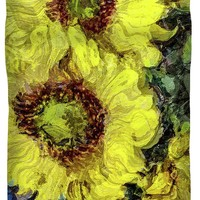 Impressionistic Sunflowers Duvet Cover for Sale by Susan Eileen Evans