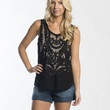 Metric Black Tank Crochet