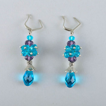 Homemade jewelry dangling earrings ladies earrings fashion accessories