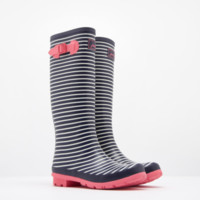Joules Striped Rain Boots