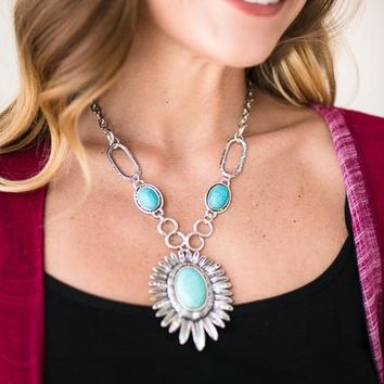 What a Sight Turquoise Statement Necklace