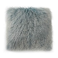 LAMB FUR PILLOW LARGE  SNOW