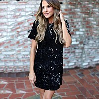 .Gold Sequined Party Dresses