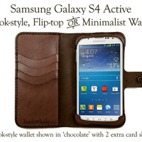 Leather Samsung Galaxy S4 Active Wallet - Free Monogramming