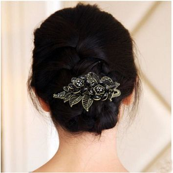 Fashion hair clips for women wedding hair barrette Vintage Rose Hairpins hair accessories for women prendedor de cabelo