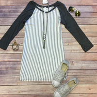 Home Team Tunic Dress 3/4: Grey