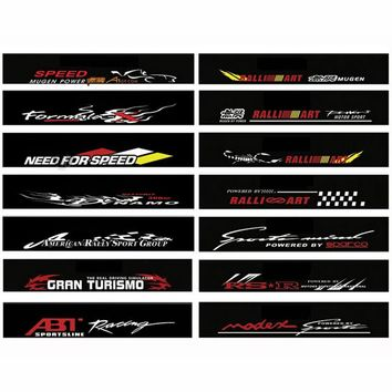 Waterproof Auto Car Front Window Windshield Decal Sticker For Honda Civic Camry Ford Focus - Car Styling