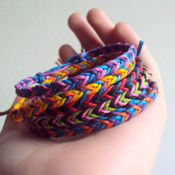 Friendship Bracelets Hemp Fishtail Bracelets Party Favors Ecofriendly