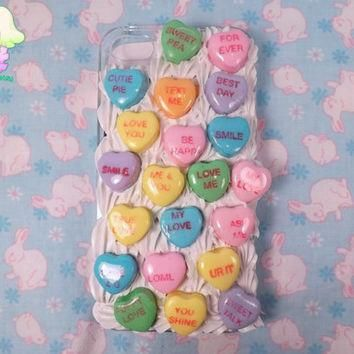 Valentine's Day Conversation Heart Decoden Case for iPhone 4/iPhone 4s