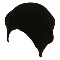 Unisex Soft Ribbed Winter Long Beanie Slouchy Slouch Knit Ski Hat Cap Black