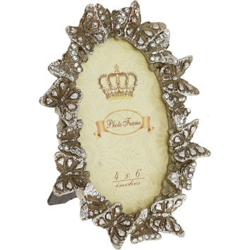 "Butterfly Oval Photo Frame 4x6"" - Decorative Accessories - Home Accessories - Home - TK Maxx"