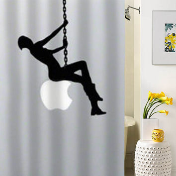 Miley Cyrus funny silhouette showwr curtain special custom shower curtains that will make your bathroom adorable