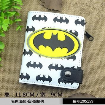 Marvel Captain America Batman Ironman Wallet Tokyo Ghou Men's Wallets Superman Men Money Clips Totoro Ladies Purse  Pouch