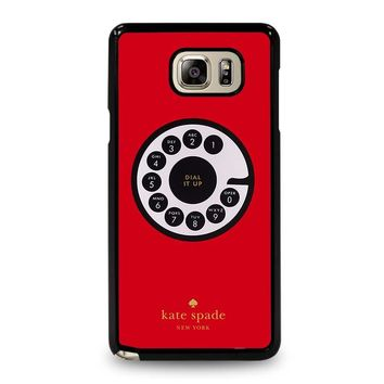 KATE SPADE ROTARY DIAL UP Samsung Galaxy Note 5 Case Cover