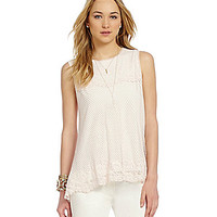 M.S.S.P. Border Lace Top - Soft Pink
