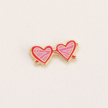 Heart Sunnies Lapel Pin