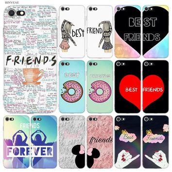 BINYEAE My Best Friend Friends BFF Emoji Soft Styles TPU Silicone Case Cover Coque for iPhone 7 8 Plus