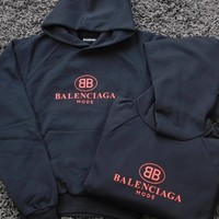 """ Balenciaga "" Women Men Hot Hoodie Cute Sweater"