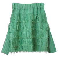 Folk Style Boat Neckline Off-the-shoulder Tassels Knitwear
