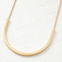 Curved Bar Pendant Necklace