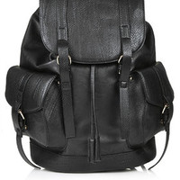 Snake Pocket Backpack - Black
