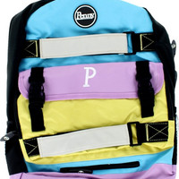 Penny Backpack Pastel Blue/Lilac/Yellow
