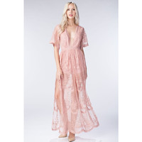 Chloe Maxi Dress, Blush