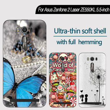For Asus Zenfone 2 Laser ZE550KL 5.5-inch Phone Case Cute Cartoon High Quality Painted TPU Soft Case Skin Back Cover Shell