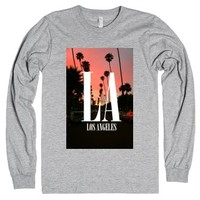 Los Angeles-Unisex Heather Grey T-Shirt