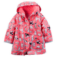 Carter's Jersey-Lined Dog Print Raincoat