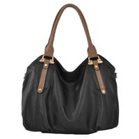 MIMI Black Office Tote Style Hobo