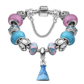 After The Rain Artisan Loaded EU Charm Bracelet Cinderella Beads w/ Optional Authentic
