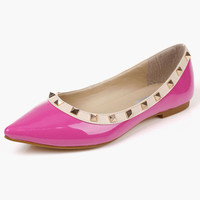 Rivets PU Upper Pointy Toe Shoes