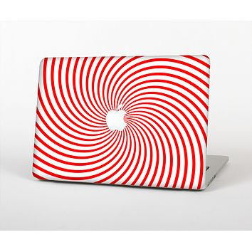 The Red & White Hypnotic Swirl Skin for the Apple MacBook Pro Retina 13""