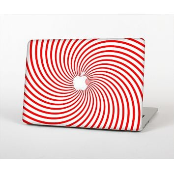 The Red & White Hypnotic Swirl Skin for the Apple MacBook Air 13""