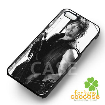 Daryl Dixon The Walking Dead with Crossbow -srrnd for iPhone 6S case, iPhone 5s case, iPhone 6 case, iPhone 4S, Samsung S6 Edge
